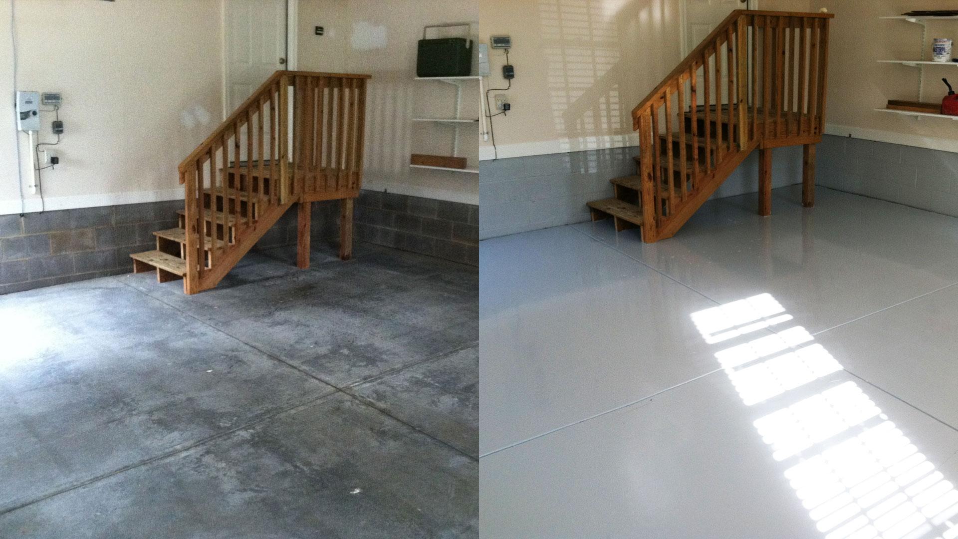 Epoxy floor coatings calgary garage epoxy solo epoxy for Garage floor